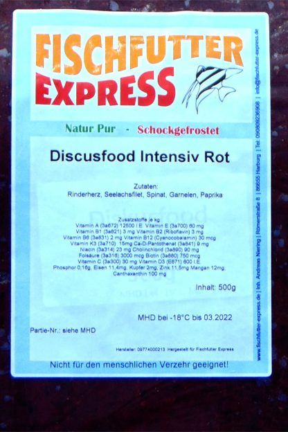 Diskusfood - intensiv rot 500g - Frostfutter-842