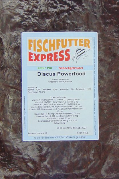 Discus Powerfood Detail - 500g Flachtafel